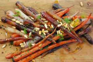 Roasted Heirloom Rainbow Carrots