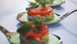 Dungeness Crab Salad with Spring Pea Puree