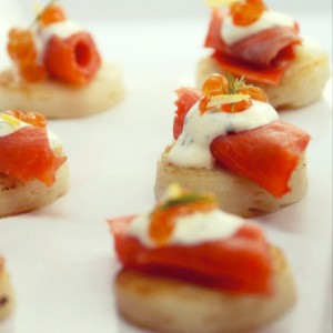 Wild BC Smoked Salmon on Potato Pavé